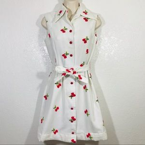 Vintage 50s Fred Rothechild Embroidered Dress EUC